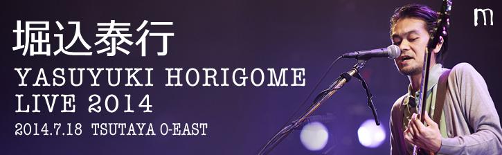 堀込泰行「YASUYUKI HORIGOME LIVE 2014」