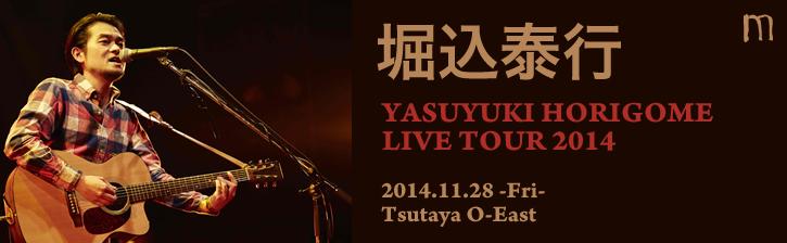 堀込泰行「YASUYUKI HORIGOME LIVE TOUR 2014」